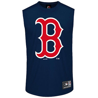Boston Red Sox Majestic MLB Beurg Muscle T-Shirt - Navy