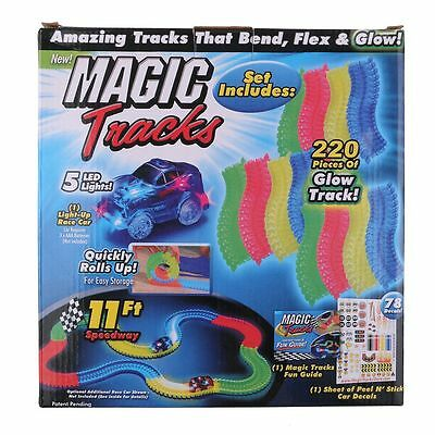 Magic Tracks The Amazing Racetrack that Can Bend, Flex & Glow Children's Gifts