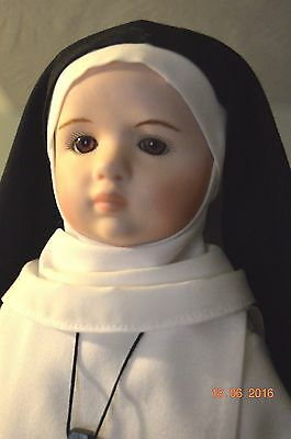"Nun doll American Episcopal 15"" Order of St. Helena"
