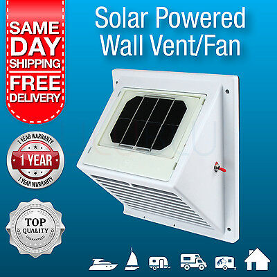 NEW Solar Powered Wall Vent / Exhaust Fan/ Air Extraction Vent Solar