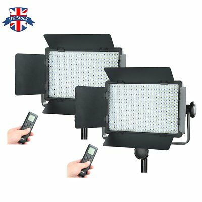 UK 2pcs Godox LED 500 Camera Video Continuous Wedding Lighting Kit 3300-5600K