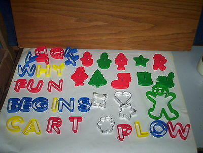 Lot of 10 Wilton Christmas Cookie Cutters 1992 & Others Assortment + Ginger Man