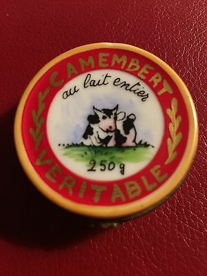 Camembert Cheese Limoges Box from France
