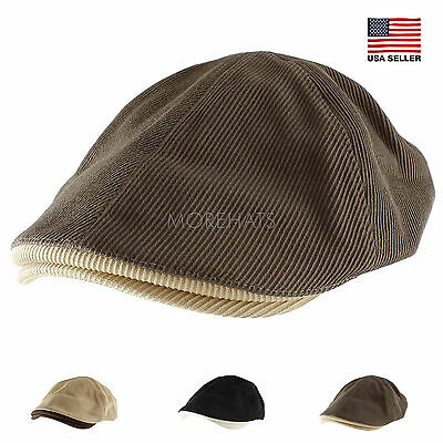 Morehats Cotton Corduroy Two Tone Newsboy Cap Irish Hunting Gatsby Cabbie  Hat edcb93995150