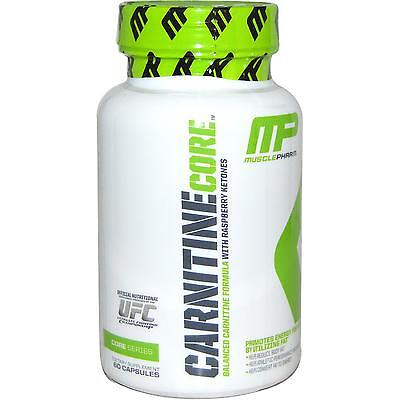 MusclePharm Carnitine Core 60 Capsules Fat Burner lean Z mode L FREE POST
