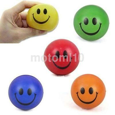 2Pc Smiley Face Stress Ball Toy Pressure Relief Squeeze Gift Toy Random Color UK