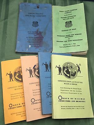 Vtg Lot UPRR Order Of Railway Conductors Brakemen Constitution Statutes Rules