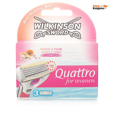 New Wilkinson Sword Quattro Refill for Woman 3 Blades - Free Postage