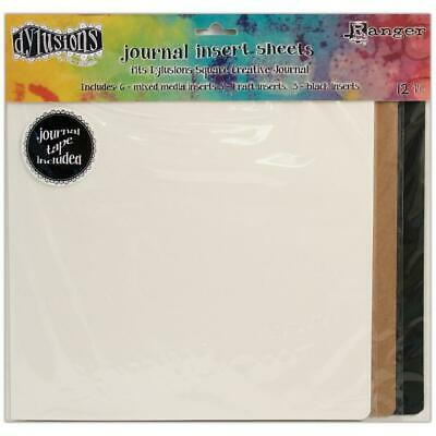 Dylusions Journal Insert Sheets - Square - 12 Pack