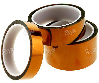 20/30/50mm -33m Kapton Tape High Temperature Heat Resistant Polyimide BGA UK