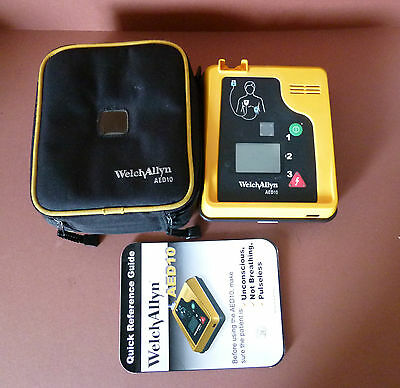 Welch Allyn AED 10 Defib with Soft Case and used Battery AED Heartstart