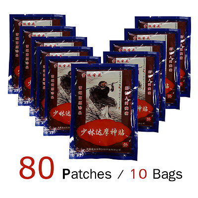80 Patches Pain Relief Plaster Relieving Muscle pain Arthritis Back Pain Bruises