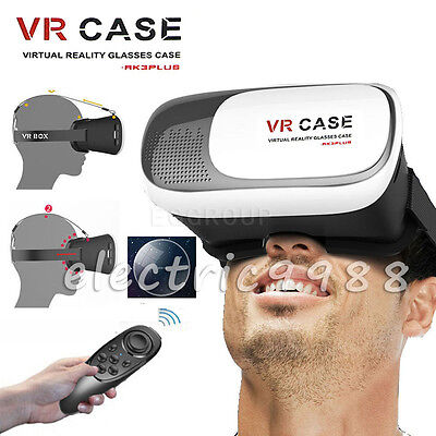 3D VR Case 2.0 Google Cardboard Virtual Reality Glasses Bluetooth Remote Gamepad