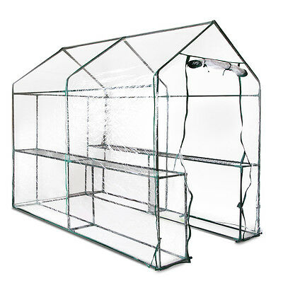 New Greenhouse with Transparent PVC Cover - 1.9M x 1.2M