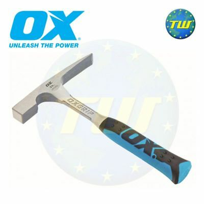 OX Pro 24oz Solid Steel Brick Hammer Bricklayers Block Masons Tools P082424