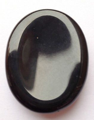 Beautiful Healing Black Agate Worry Stone Gift Reiki Crystal Metaphysical Energy