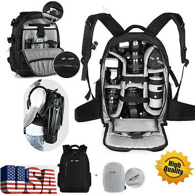 NEW DSLR Waterproof Camera Backpack Bag Case for Canon Nikon Sony Weather Cover