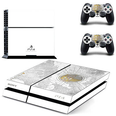 White Destiny Skin Sticker For PS4 Playstation 4 Console + Controllers