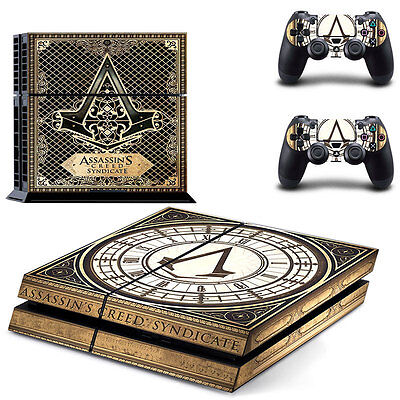Assassins Creed Skin Sticker For PS4 Playstation 4 Console + Controllers