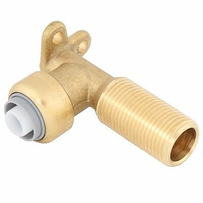 SmarteX PEX MALE LUGGED ELBOW 16mmx1/2 Inch Push Fit Brass *Australian Brand