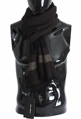 Dolce and Gabbana Brown Wool Cashmere Scarf for Men - RRP: €370