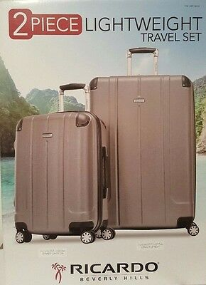 Ricardo Beverly Hills Hardside Spinner Luggage Set Travel Bags 2 Pcs Suitcase SV