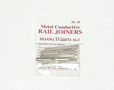 Peco Products SL-10 Metal rail joiners/fishplates (for code 100 rails inc Hornby