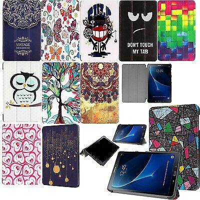 "Smart Cartoon Leather Case Stand Cover For Samsung Galaxy Tab A6 7"" & 10.1"" T580"