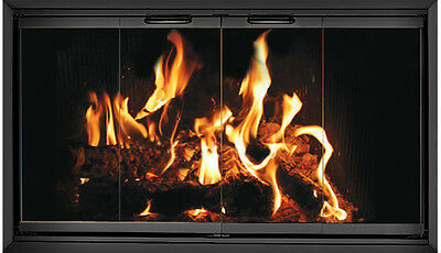Black Fireplace Glass Doors for Temco (Tempco) fireplace TE56