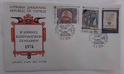 CYPRUS 22/07/1974 Official First Day Cover set of 3  2ND INTER.CONGRE #3