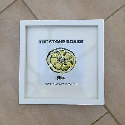 She bang the drums 10x10 inch mounted and framed print deep stone roses