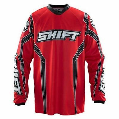 Shift Assault Motocross Jersey Solid Red MX Enduro Off-Road Quad MTB