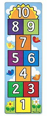 Melissa & Doug 9402 Hop and Count Hopscotch Game Rug  Children Kids Toy Mat