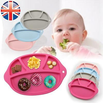 *UK Seller* Silicone Baby Toddler Food Serving Tray Meal Feeding Placement Plate