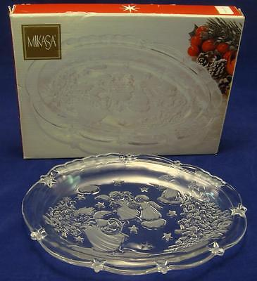 """Mikasa """"Holiday Lights"""" 9"""" Sweet Dish ~New In Box~ Never used"""