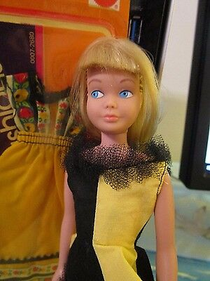 Rare Made in USA Skipper - Extra Long Platinum Hair! MATTEL FASHIONS INCLUDED