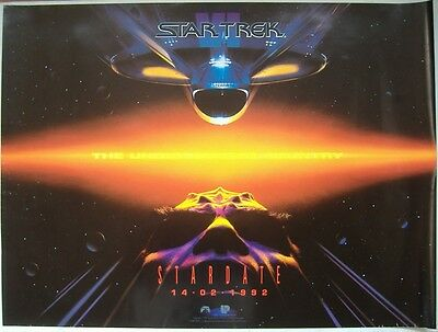 Star Trek VI: The Undiscovered Country (1992) ORIGINAL D/S ADV UK QUAD POSTER