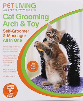 Cat Kitten Massaging Scratching Scratcher Pet Arch !