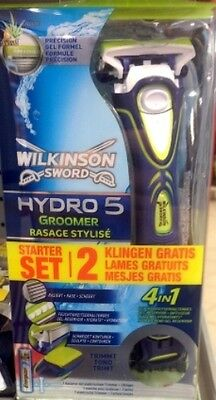 Wilkinson Sword Hydro 5 Groomer Razor Shave Shaver with 2 free blades
