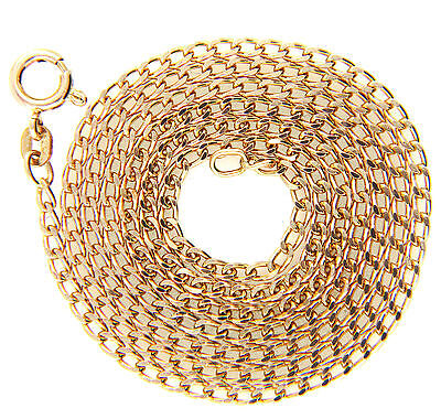 Hallmarked Solid 9ct Gold Mens Ladies Curb Link Chain Necklace 24""