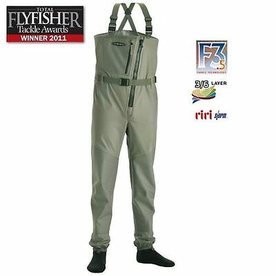 Vision Ikon Zip Front Stockingfoot Chest Waders * 2017 Stock *