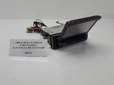 2008 Harley FLHT Touring Electra Glide CLARION CD Radio DVD Display FOR PA HD094