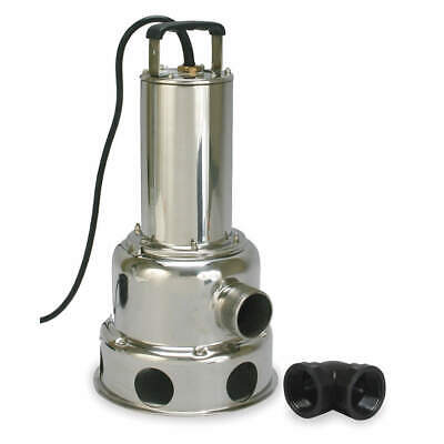 DAYTON Submersible Sewage Pump,4/10 HP, 2JGA4