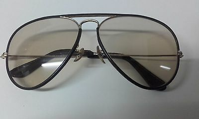 Vintage superb Rayban Leathers Chromatic sunglasses in original leather case