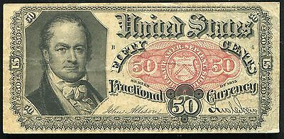 50 Fifty Cents Fifth Issue Fractional Currency Note Extremely Fine