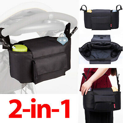 Allis Stroller Organiser 2in1 Baby Changing Bag Buggy Bottle Holder Stroller