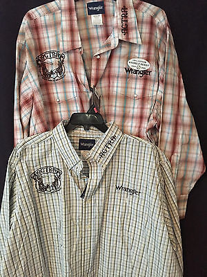 National Finals ACTRA Contestant Patriot Plaid Shirt Wrangler Team Roper 3X 4X