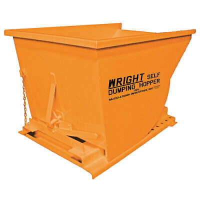 GRAINGER APPROVED Self Dumping Hopper,5000 lb.,Orange, 7577 ORANGE