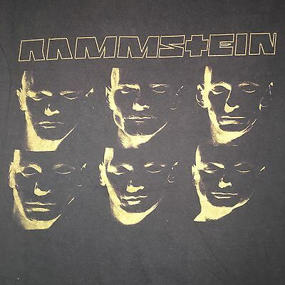 Rammstein Made In Germany RARE Shirt Sz S/M Double Sided