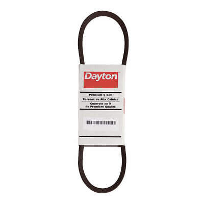 DAYTON Fabric Cover, Rubber Body, Polyester Cords V-Belt,Cogged,AX55, 6L241